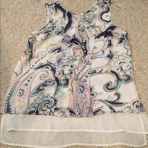 Daniel Rainn sleeveless blouse size S lightweight